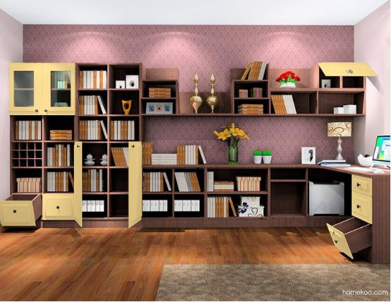 书柜图片效果图大全2016图片