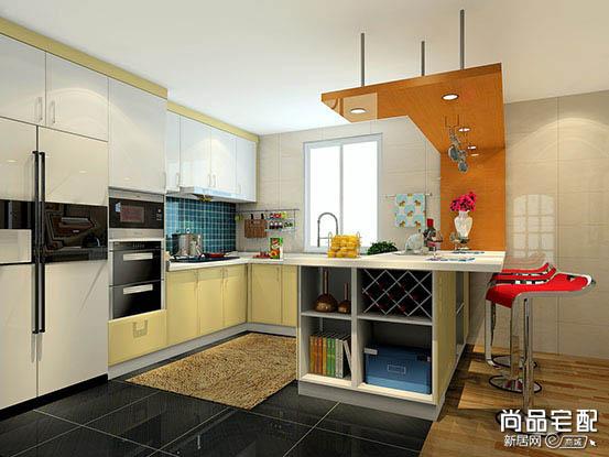 开放式厨房吧台隔断
