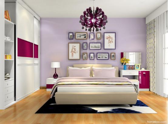 好好设计,你的卧室就可以变得非常美好,立刻就可以营造出非常温馨的氛围,卧室梳妆台图片设计风格值得借鉴,梳妆台设计得好,可以满足功能,还可以有浪漫的卧房氛围,其实衣柜、梳妆台等设计在色彩和材质上可以多花心思。 卧室梳妆台图片设计风格展示:浪漫主义  色彩的设计非常不错的,首先设计师选择的是以白色为主体,让整个空间看上去非常纯净,其次是搭配上酒红的衣柜设计,给人的感觉是非常浪漫的,梦幻的紫色调搭配出来的感觉是非常迷人的,梳妆台靠近窗户,采光效果是极好的。