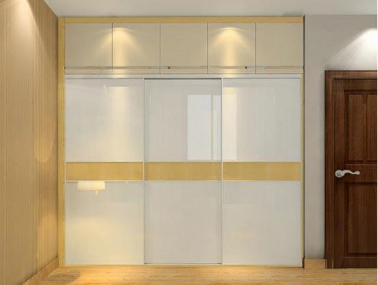 玻璃衣柜门图片 衣柜玻璃推拉门图片
