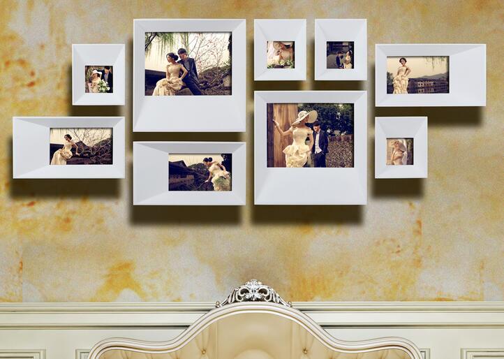 9框照片墙怎么挂