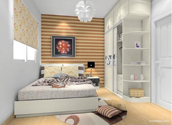 小卧室衣柜装修效果图 卧室装修效果图图片