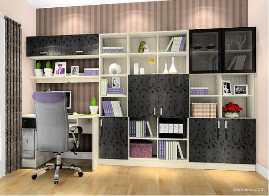 创意书柜设计图 书柜设计图