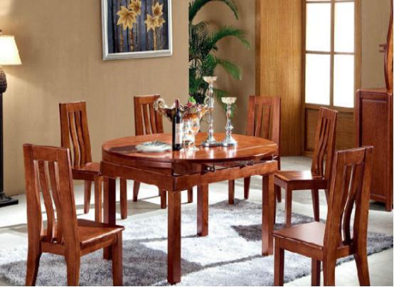家庭用可折叠餐桌 家用折叠饭桌图片