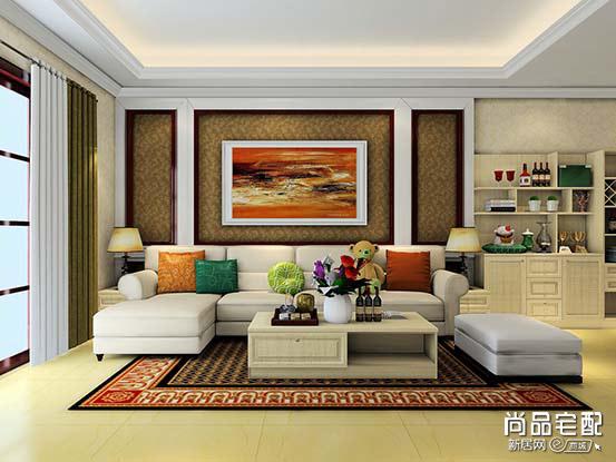 沙发背景墙效果图2017
