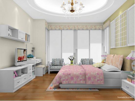 卧室吊顶效果图2017