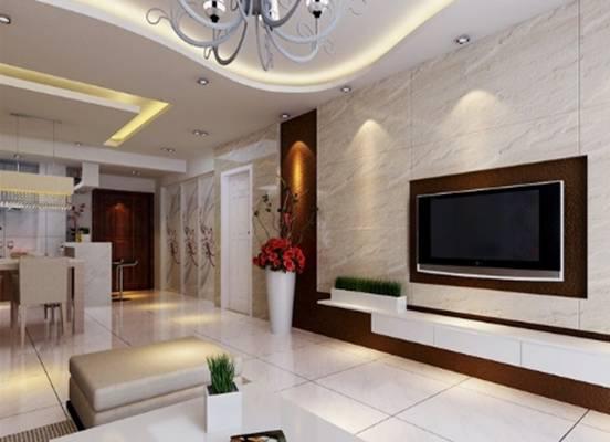 微晶石瓷砖背景墙