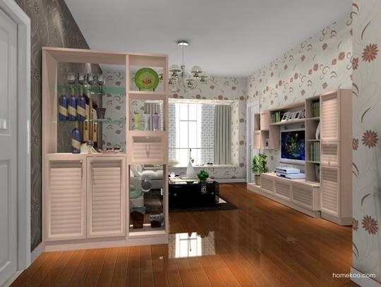 小户型客厅隔断设计