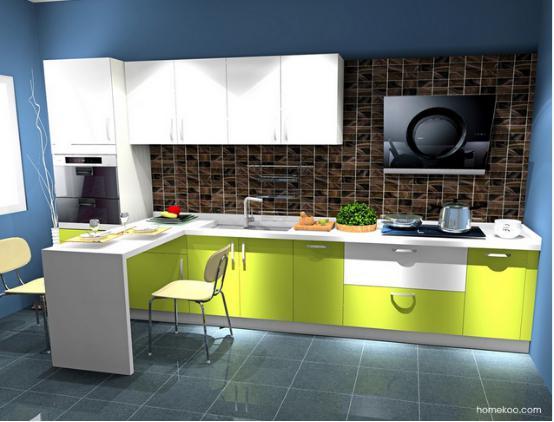 好的设计,可以让整个厨房变得更加有魅力,空间的设计需要好好地借鉴一下,厨房吧台装修效果图大全处处都充斥着温馨与浪漫的舒适气息。橱柜方面需要突破传统的柜体设计模式,而吧台的设计则极好地实现了现代厨房装修的创新与时尚需求。 新实用主义:厨房吧台装修效果图大全  这个厨房的设计采用的是新实用主义理念,吧台设计悠闲而有魅力。