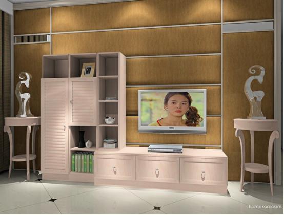 电视机背景墙效果图欧式图片2016