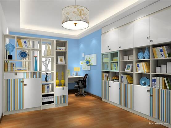 敞开式书房装修图片
