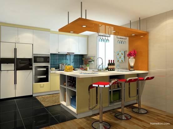 开放式厨房橱柜设计图