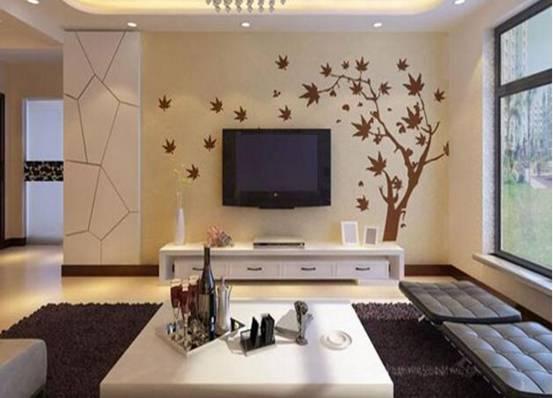 硅藻泥电视机背景墙效果图