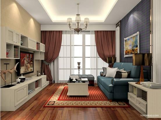客厅飘窗窗帘图片