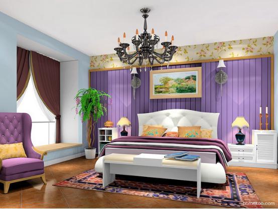 卧室田园风格装修效果图