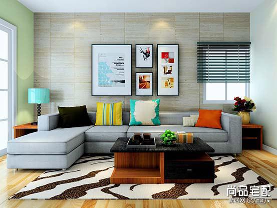 现代客厅装修样板房