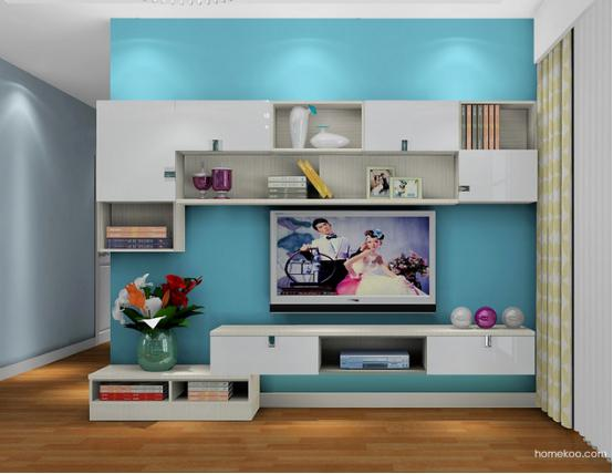 家庭客厅电视柜图片