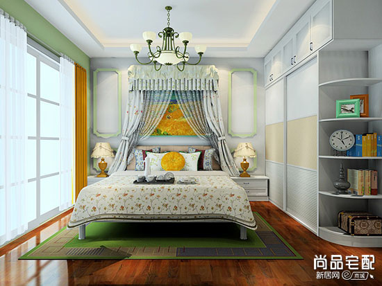 卧室床头背景墙效果图