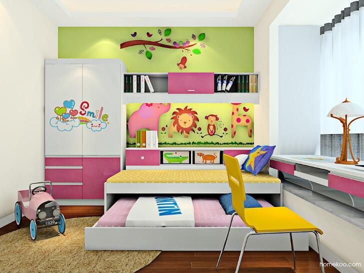 儿童双人卧室设计