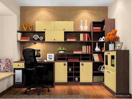 2016家用书柜图片大全 家用书柜效果图图片