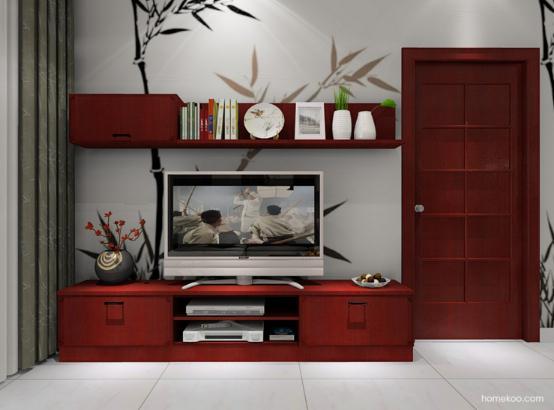 客厅实木电视柜图片