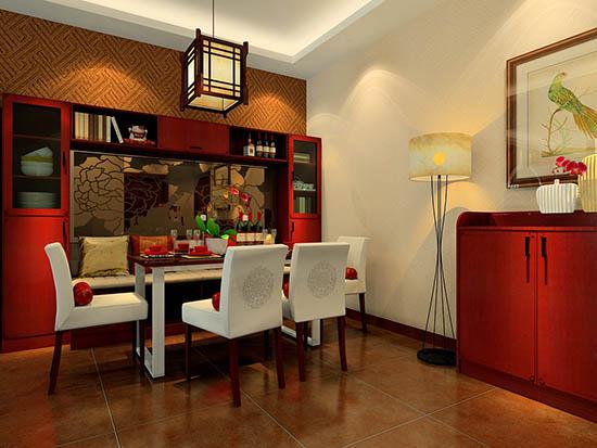 餐厅背景墙酒柜