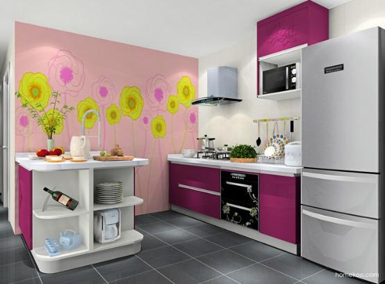 开放式厨房装修效果图家用
