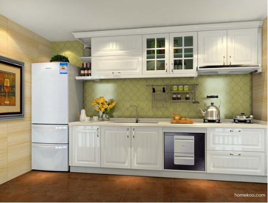 长方形厨房设计效果图 长方形厨房效果图