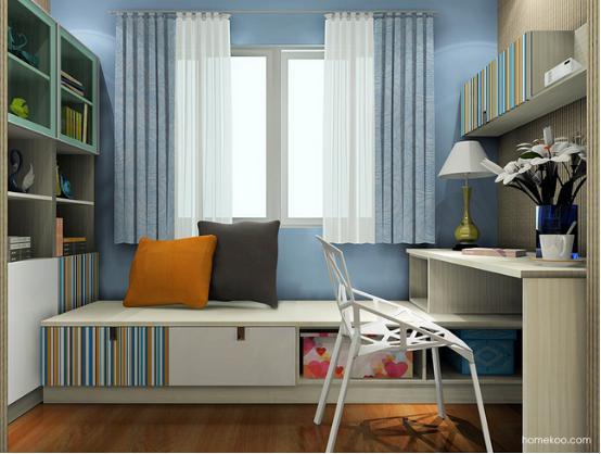 卧室书柜设计图大全2016图片