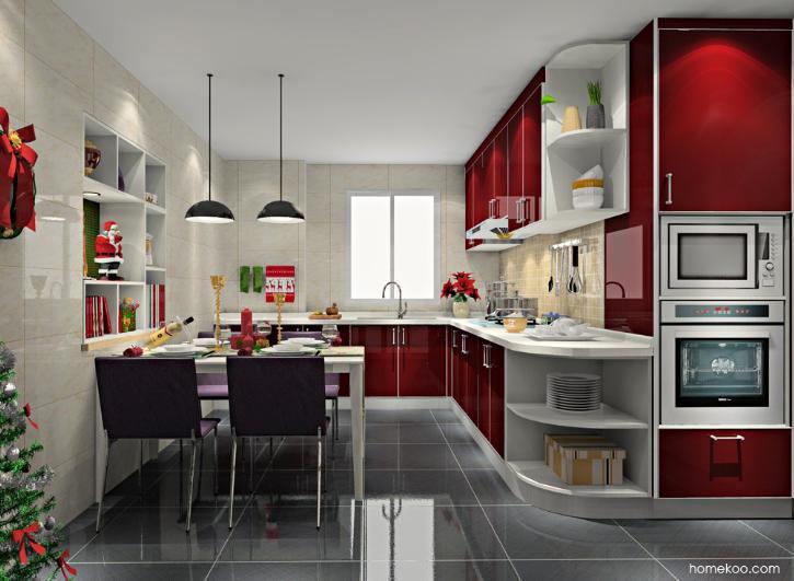 开放式厨房设计图