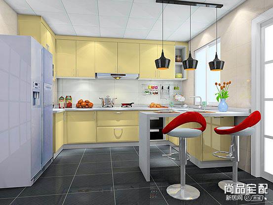 开放式厨房吧台隔断设计