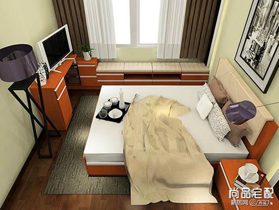 榻榻米卧室带书房