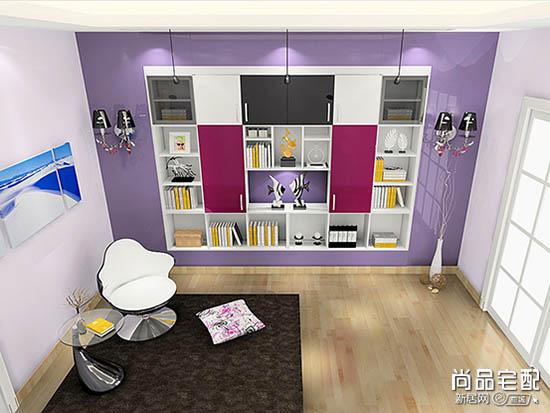 客厅开放式书房