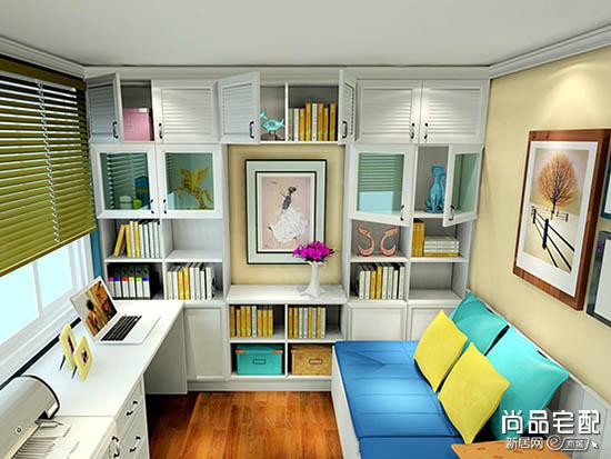 客厅小书房