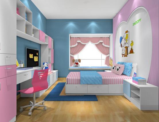 新居图库 儿童房装修效果图 儿童房飘窗利用 儿童房飘窗装修效果图
