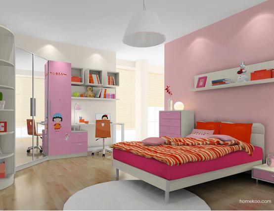 女生儿童床图片