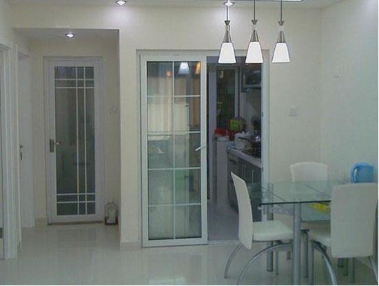 新居图库 厨房装修效果图 整体厨房效果图 欧式厨房推拉门图片大全