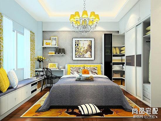 现代卧室床头背景墙