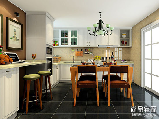 厨房餐厅装修效果图大全2017图片