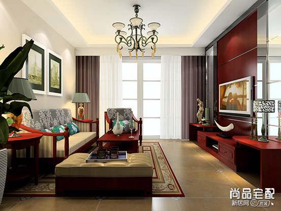 中式吊灯效果图