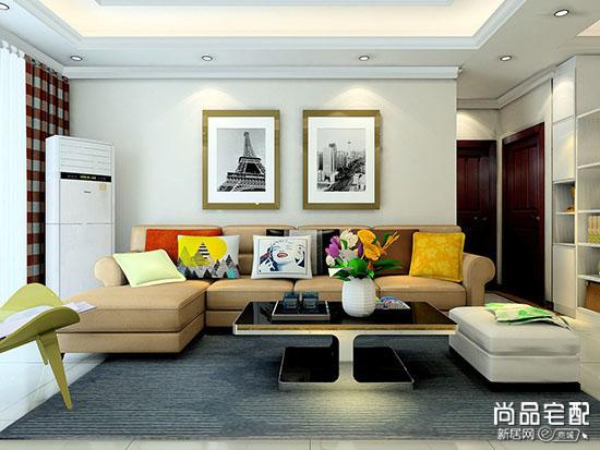 实木布艺沙发图片