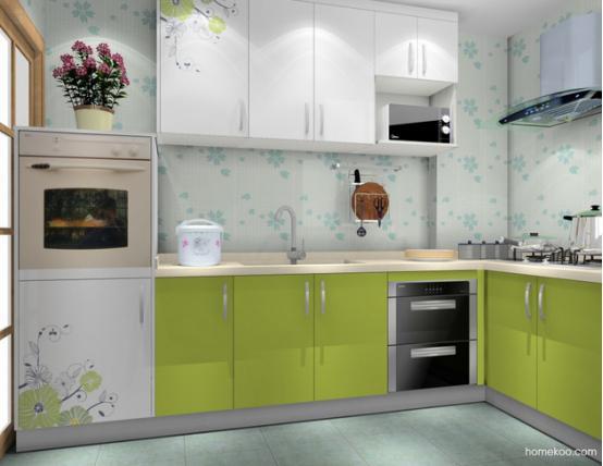 新居图库 厨房装修效果图 整体厨房效果图 小户型厨房设计图片