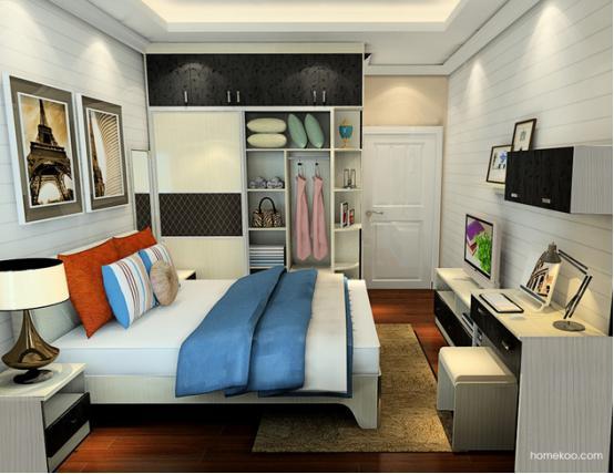 男生房间卧室设计图