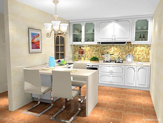 开放式厨房装修效果图欣赏图片