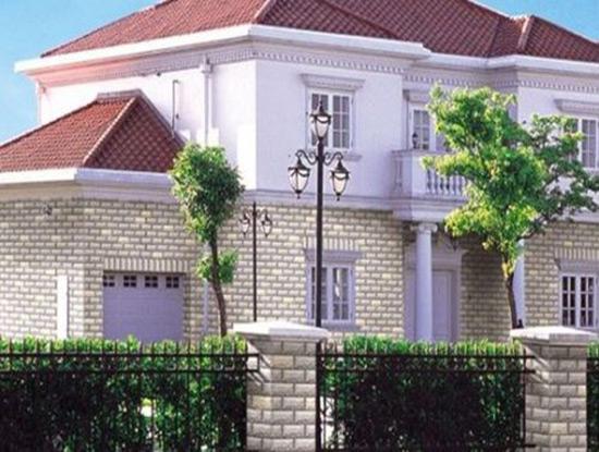 房子外墙瓷砖效果图搭配过程中就应该注意整体感,切记凌乱、复杂,