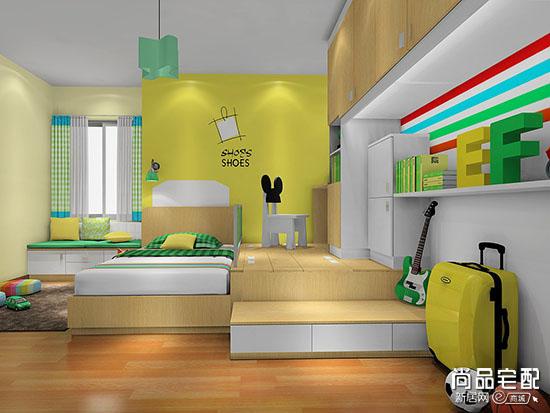 儿童卧室床头背景墙