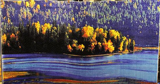 新疆风景挂毯