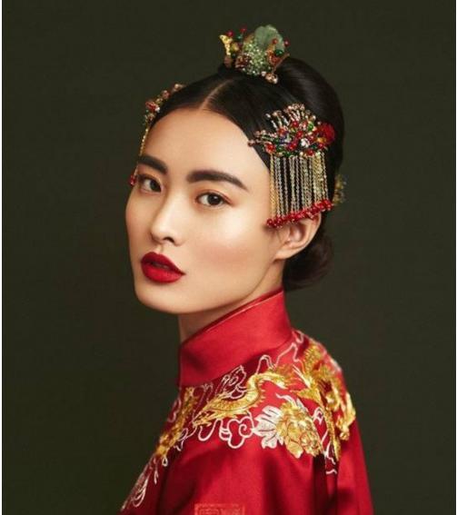 中式新娘发型教程 图片
