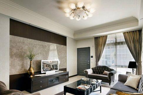 客厅背景墙瓷砖