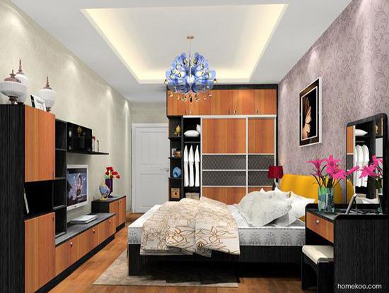 新居图库 卧室装修效果图 整体衣柜 卧室吊顶效果图欧式设计    空间图片